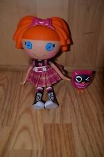 """2009 LaLaLoopsy Bea Spells A Lot Orange Hair Girl Doll & Owl Original Outfit 12"""""""