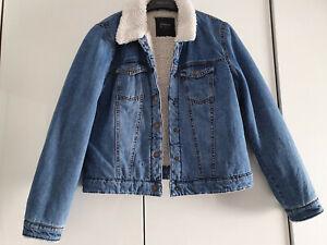 ONLY Jeansjacke Jeans Jacke mit Fell Gr.L wNEU