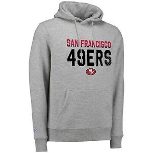 NFL Hoody San Francisco 49ers Fade Out Grey Hooded Sweater Hoodie Jumper