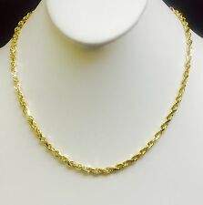 """14k SOLID Yellow Gold Diamond Cut ROPE Link Chain/Necklace 22"""" 5MM 26 grm (R035)"""