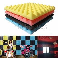 Acoustic Soundproof Sound Stop Absorption Pyramid Studio Foam Board 50x50x3 cm