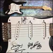GFA Dave Mustaine, Ellefson & Marty Megadeth Firmado Eléctrico Guitarra AD2 COA