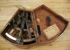 ANTIQUE ENGLISH NAUTICAL SEXTANT GRAY STRAND LIVERPOOL ORIGINAL WOODEN BOX c1850