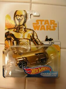Hot Wheels Star Wars C-3PO VW Bus ~Character Cars Volkswagen Van~ NEW! Unopened!