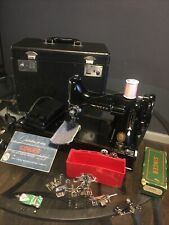 Vintage 221 Singer Featherweight Sewing Machine W/ Case (tested/works)