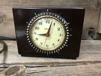 Vintage General Electric Telechron Desk/Shelf Clock Art Deco Works Well