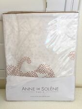 ANNE DE SOLENE PARIS Bed Linens REFLETS NUDE 1 EURO SHAM 100% Cotton Percale New
