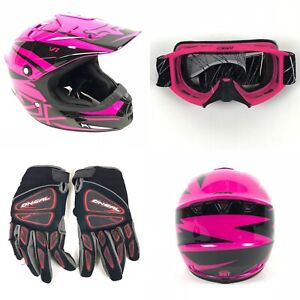 FOX Racing V1 Pilot Moto Motorcross Helmet Sz 49-50cm Scott Goggles ONeal Gloves