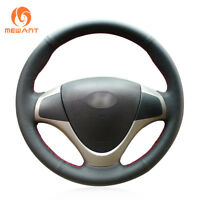 Black PU Artificial Leather Steering Wheel Cover for Hyundai i30 Elantra Touring