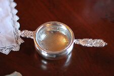Tea Strainer, Silver Plated w/ Drip Bowl, Antique Reproduction, Victoria
