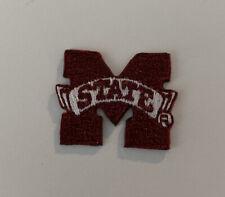 "NCAA Mississippi State University Bulldogs Iron On Patch 1""x1"" Logo"