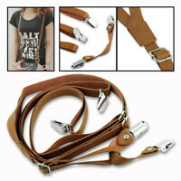 Cute Adult Suspenders Braces Boys Girls Clip-on Y Back Adjustable Elastic Brace