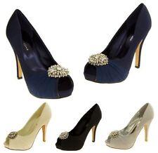 Stiletto Peep Toes Textile Heels for Women
