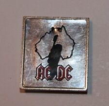 AC/DC Angus Silhouette, Metallic, Pin, Badge, Vintage 80's, rar, rare , AC-DC