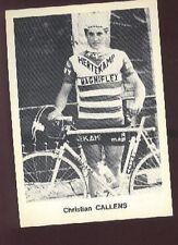 CHRISTIAN CALLENS Cyclisme HERTEKAMP NOVY MAGNIFLEX Cycling ciclismo wielrennen