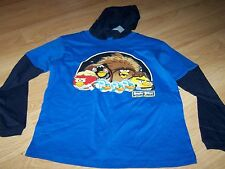 Size 18 Star Wars Angry Birds Chewbacca Hooded Long Sleeve T Shirt Top Blue New