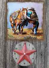 Cowboy Up wall clock (Great Man Cave Wall Clock)  They make great gifts