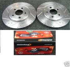 FOR HONDA ACCORD 2.2CTDI VTEC CROSS DRILLED GROOVED BRAKE DISCS FRONT
