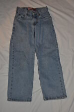 LEVIS GIRLS 10 SLIM CLASSIC RELAXED 550 23 X 24 STRAIGHT LEG BLUE DENIM JEANS