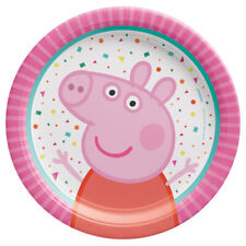 Peppa Pig 'Confetti Party' Small Paper Plates (8) ~ Birthday Party Supplies Nick