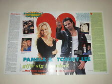 Pamela Anderson Tommy Lee Motley Crue Mark Oh cuttings clippings Sweden Swedish