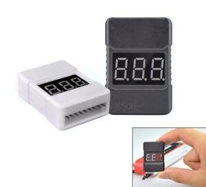 RC Lipo Low Voltage Alarm Buzzer BX100 1S-8S *BLACK* OR *WHITE* *UK SHIPPING*
