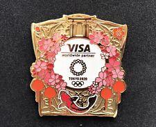 OLYMPIC Pin Pins BADGE 2020 Tokyo Sponsor VISA Cherry Blossom J