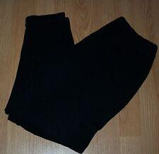 "DRESSY TESSY Black Knit Pull-on PANTS Slacks elastic waist Size Small 24"" Inseam"