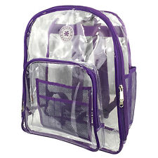 Unisex Heavy Duty Clear Backpack Student Transparent School ...