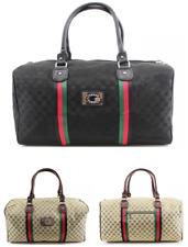 Large Designer Inspired Holdall Gym Luggage Duffel Cabin Travel Case Bag Black