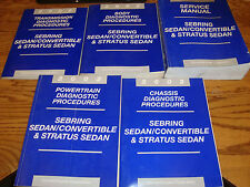 2002 Chrysler Sebring Dodge Stratus Shop Service Manual + Procedures 5 Book Set