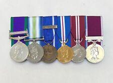 Mounted Full Size Medals, Ireland, Falklands, IFOR, Golden Diamond Jubilee, LSGC