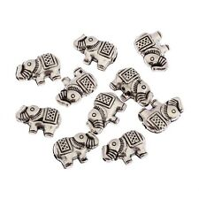 20pcs Elephant Beads Square Tibetan Silver Charms Spacer DIY Bracelet 12*8mm