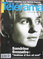 2300 SANDRINE BONNAIRE JEANNE D'ARC SALMAN RUSHDIE CASADESUS BJÖRK TELERAMA 1994