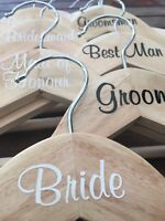 Personalised Wedding Coat Hanger Sticker (position in wedding OR name) each