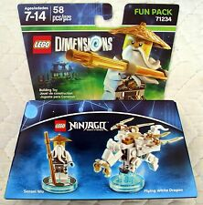 LEGO DIMENSIONS FUN PACK 71234 - NINJAGO - SENSEI WU & FLYING WHITE DRAGON - MIB