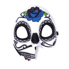 "Women's Day Of The Dead Halloween Sugar Skull Half Split Face Eye Mask - ""Sofia"""