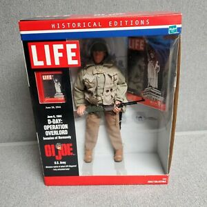 """Gi Joe LIFE U.S. Army D-Day Operation Overlord WWII,12"""" Historical Edition NEW"""