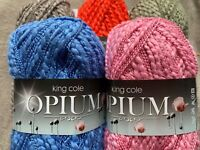 opium king Cole specialist  textured yarn 100g cotton mix