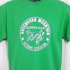 Glennville Round Up T Shirt Vtg 90s Greenhorn Mountain Rodeo Cowboy USA Medium