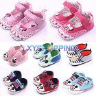Newborn Baby Girl Boy Mickey Minnie Mouse Soft Sole Prewalker Crib Shoes 0-18M