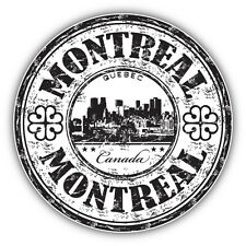 "Montreal City Canada Grunge Travel Stamp Car Bumper Sticker Decal 5"" x 5"""
