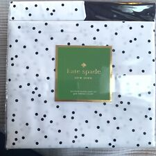 Kate Spade Queen Sheet Set 6 Piece Scatter polka Dot Navy White Brand New