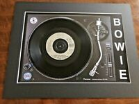 """David Bowie - This is not America - Genuine 7"""" Single on a Record Player Print"""