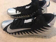Nike Alpha Menace Pro Football Lacrosse Cleat Black Size 10.5