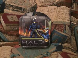 2011 McFarlane Toys HALO Reach Spartan Mark V Male Blue Series 4 New in Package