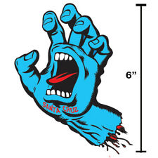 "Santa Cruz Skateboard Sticker 6"" Old School Screaming Hand Large Skate Punk Surf"
