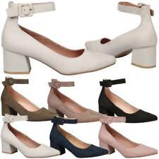 Buckle Block Med (1 3/4 to 2 3/4 in) Heel Height Heels for Women