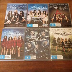 Pretty Little Liars Season 1-6 DVD 1 2 3 4 5 6  R4 Like New! FREE POST
