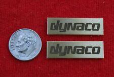 PAIR DYNACO SOLID BRASS Speaker Logo Badge -- A10/A25/A25XL/A35/A40XL/A50